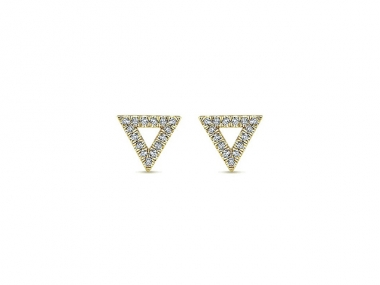 14K Trends Triangle Studs 1