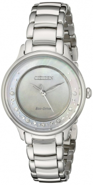 Stainless Circle of Time Eco-Drive Watch 1