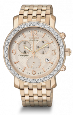 Rose Tone Stainless Steel Chronograph Drive 1