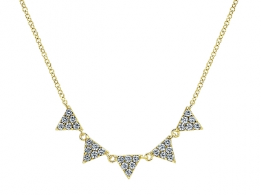 14K Triangle Layer Fashion Necklace 1
