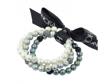PopStar Black, White & Gray Bracelet 1