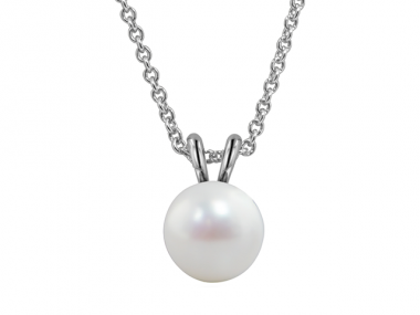 Classic Solitaire Pearl Necklace 1