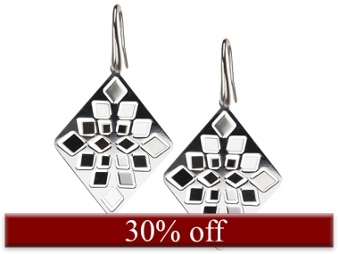 Diamond Mirror Earrings 1