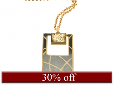 Gold & Rhodium Plated Drusy Necklace 1